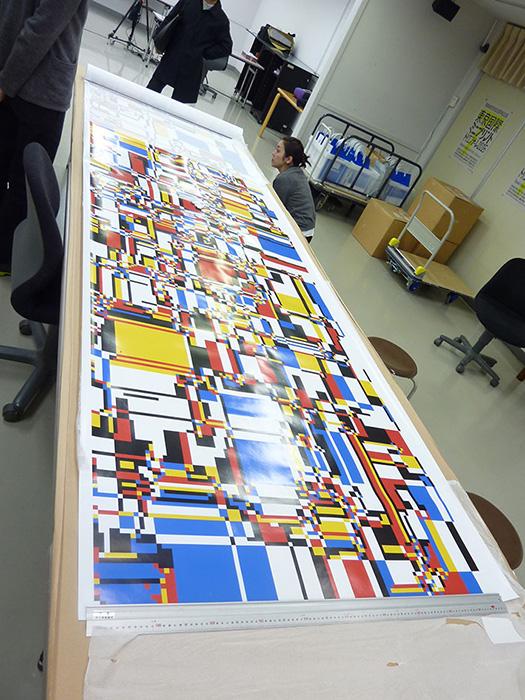 川野洋『Simulated color mosaic』1969