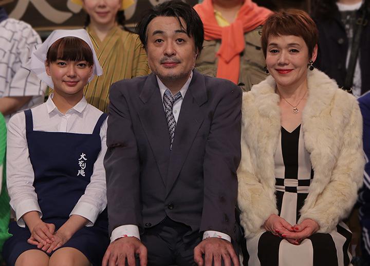 左から多部未華子、松尾スズキ、大竹しのぶ