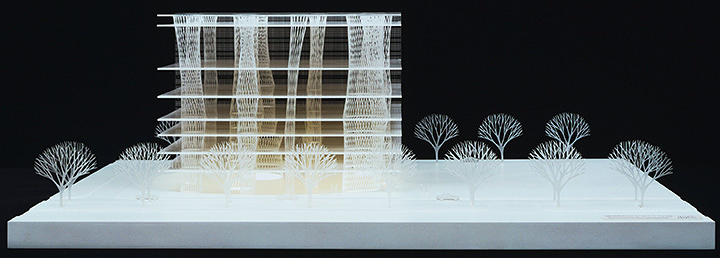 Toyo Ito & Associates, Architects. Sendai Mediatheque, Miyagi, Japan. 1995–2001. Model: acrylic, 10 5/8 x 31 1/2 x 29 1/8″ (27 x 80 x 74 cm). The Museum of Modern Art, New York. Gift of the architect in honor of Philip Johnson. ©2015 Toyo Ito