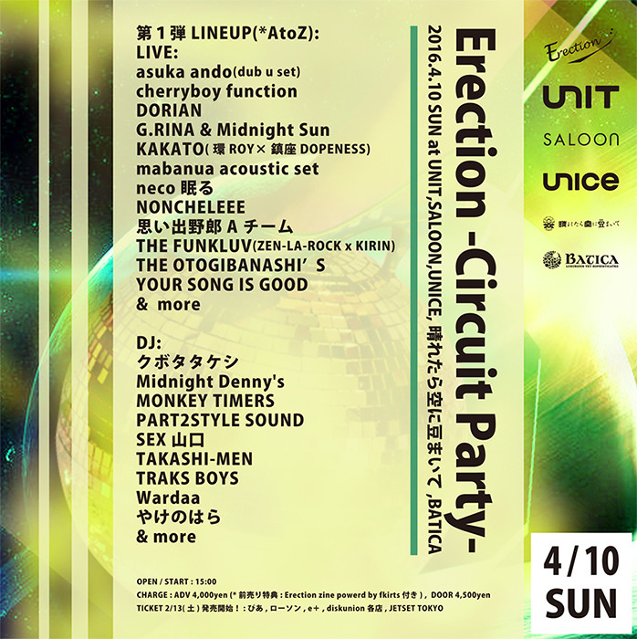 『Erection -Circuit Party-』フライヤービジュアル
