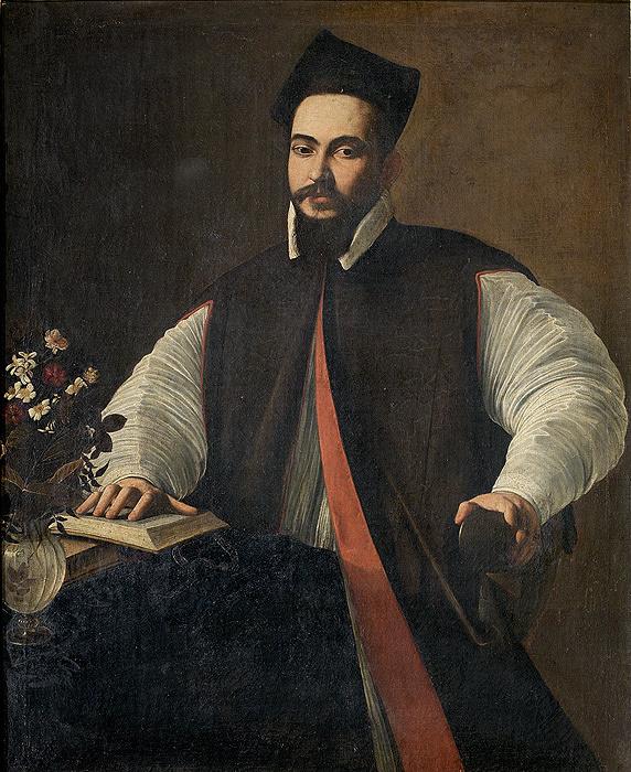 カラヴァッジョ『マッフェオ・バルベリーニの肖像』1596 年頃、122×95cm、油彩/カンヴァス、個人蔵