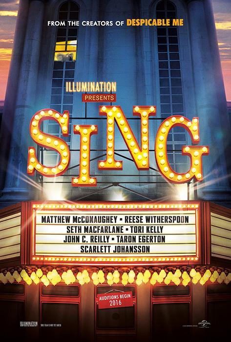 『SING(原題)』キービジュアル ©Universal Studios.