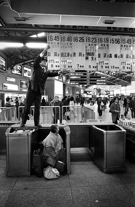 『上野駅』上野駅、東京 1981年 ©Motohashi Seiichi