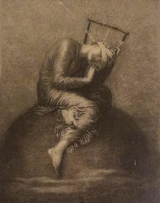 アイザック・ウォッツ『希望』制作年不明 銅版