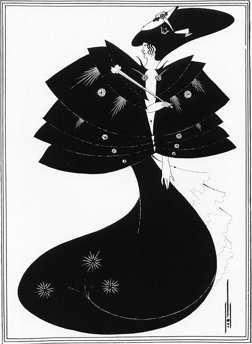 オーブリー・ヴィンセント・ビアズリー『SALOMEより:Black Cape』1920年 銅版