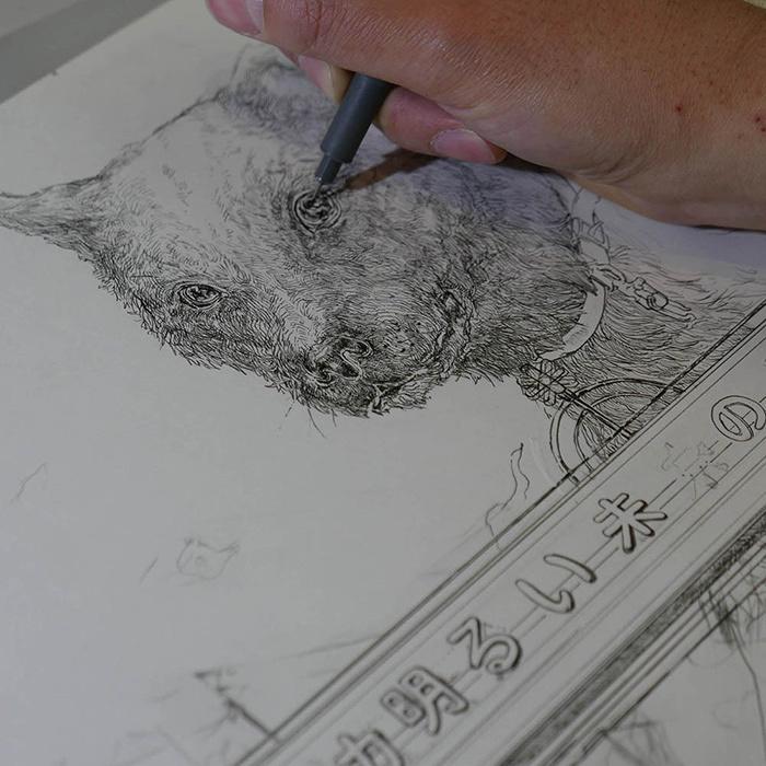今井トゥーンズの作画 ©IMAITOONZ