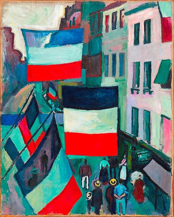 ラウル・デュフイ『旗で飾られた通り』1906 Photo: ©Georges Meguerditchian - Centre Pompidou, MNAM-CCI