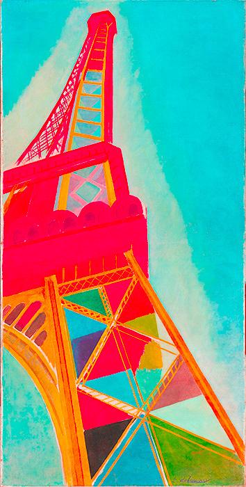 ロベール・ドローネー『エッフェル搭』1926 Photo: ©Bertrand Prévost - Centre Pompidou, MNAM-CCI