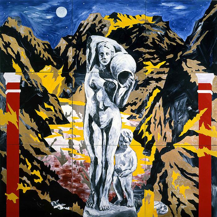 『谷間の泉』 1986年 セラミックに釉薬 大塚オーミ陶業株式会社+作家蔵