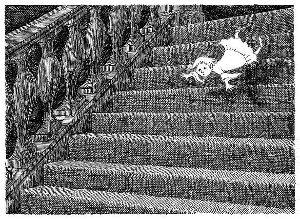 エドワード・ゴーリー『ギャシュリークラムのちびっ子たち』原画、1963年 ©2010 The Edward Gorey Charitable Trust