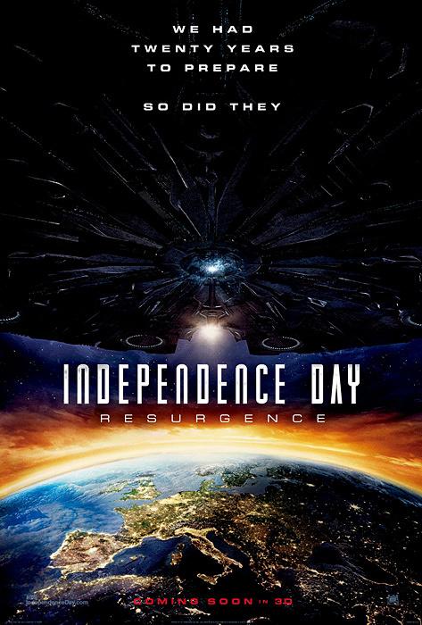 『インデペンデンス・デイ:リサージェンス』ヨーロッパ版ポスタービジュアル ©2016 Twentieth Century Fox Film Corporation. All Rights Reserved