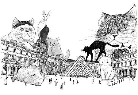 松本大洋『ルーヴルの猫(仮)』/ビッグコミックオリジナル