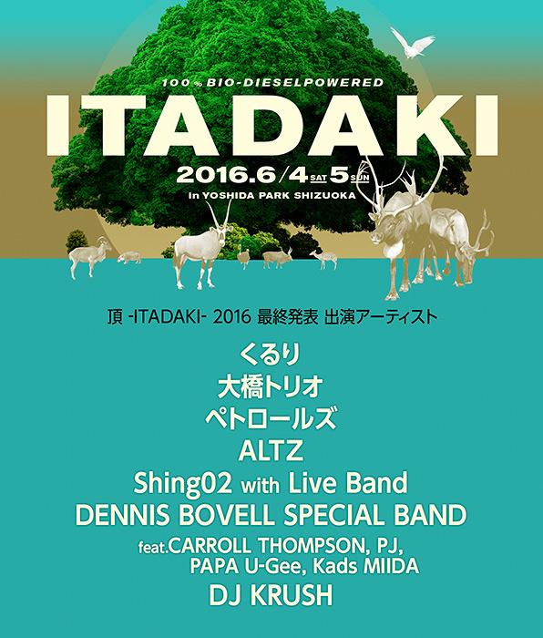 『頂 -ITADAKI- 2016』ビジュアル