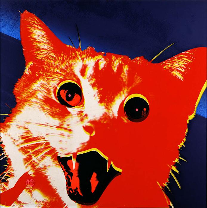 『風景No.15 オレンジ猫』1969年 兵庫県立美術館蔵
