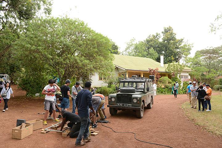 タンザニアでのロケ風景