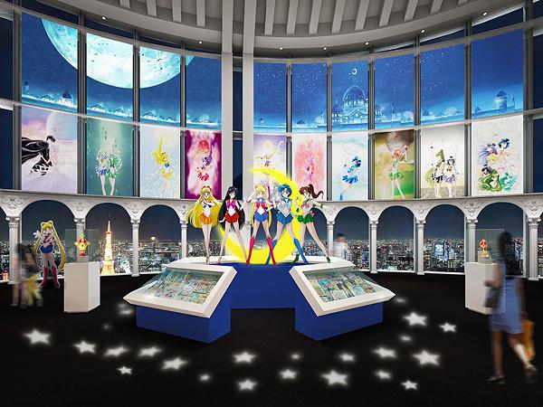 『美少女戦士セーラームーン展』エントランス イメージビジュアル