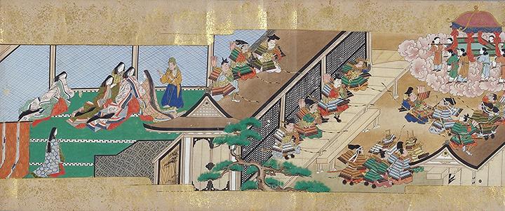 『竹取物語絵巻』(第三巻)江戸時代前期 巻子 33×約1440cm 所蔵:國學院大學図書館、東京