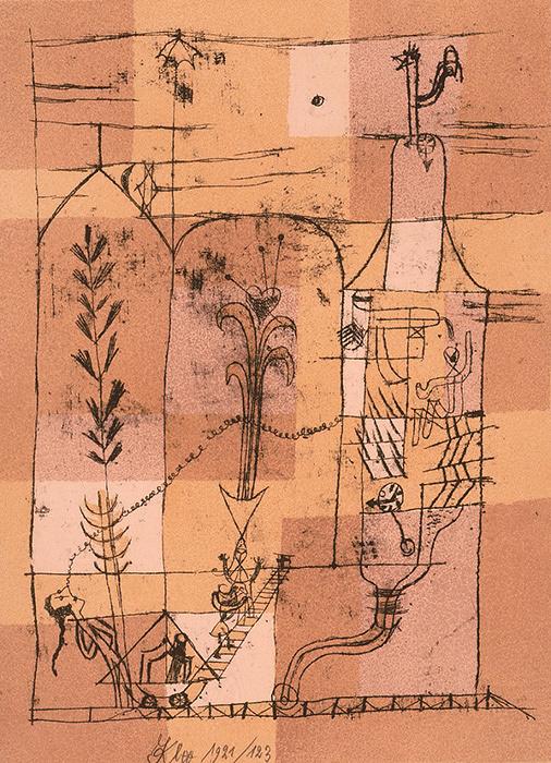 パウル・クレー『ホフマン的な場面』1921年 富士ゼロックス版画コレクション