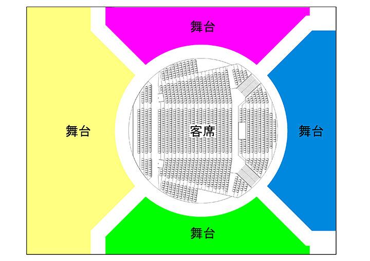 ステージ・客席俯瞰図面