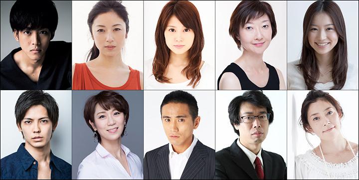 上段左から時計回りに、松坂桃李、高岡早紀、佐津川愛美