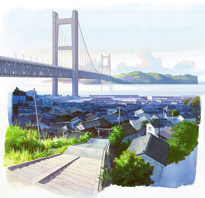 『ひるね姫 ~知らないワタシの物語~』背景美術 ©2017 ひるね姫製作委員会