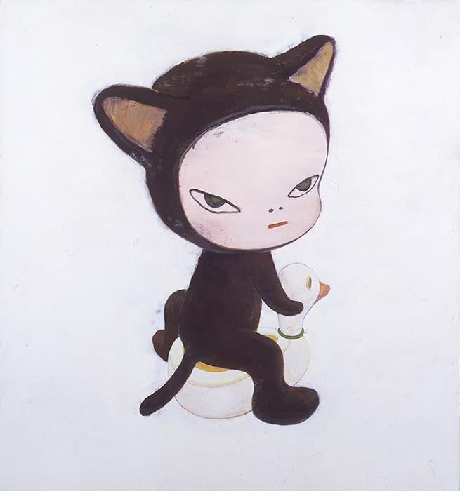 奈良美智『Harmless Kitty』 1994年 東京国立近代美術館蔵 アクリリック・綿布 150.0×140.0cm
