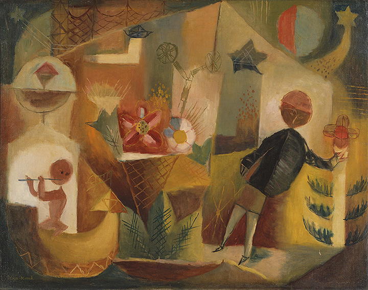 古賀春江『月花』 1926年 東京国立近代美術館蔵 油彩・キャンバス 91.0×117.0cm