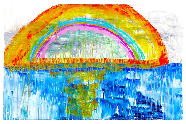大宮エリー『希望の海』 2015年 209.0×326.0cm ©Ellie Omiya
