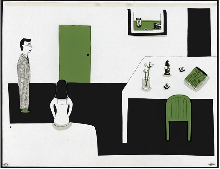 『イラストレーター4』展出品作 1993年 Illustration by Anzai Mizumaru ©Kishida Masumi