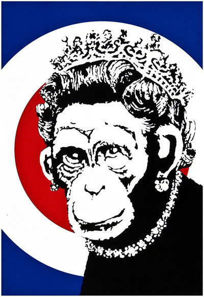 Banksy『MONKEY QUEEN』