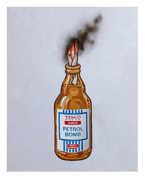 Banksy『TESCO PETROL BOMB』