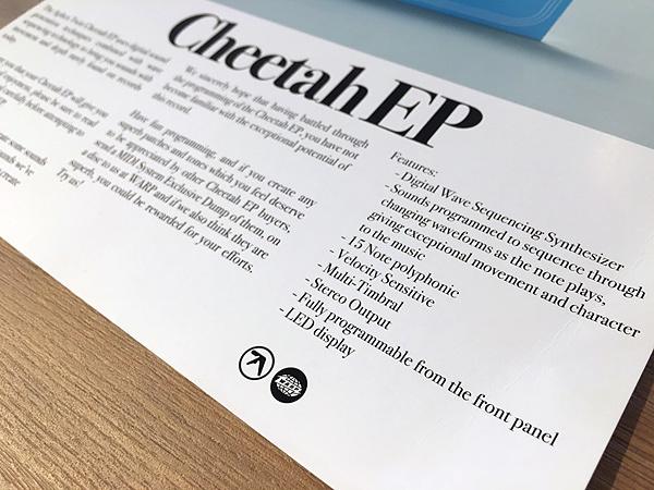 Aphex Twin『Cheetah EP』インフォメーションカード