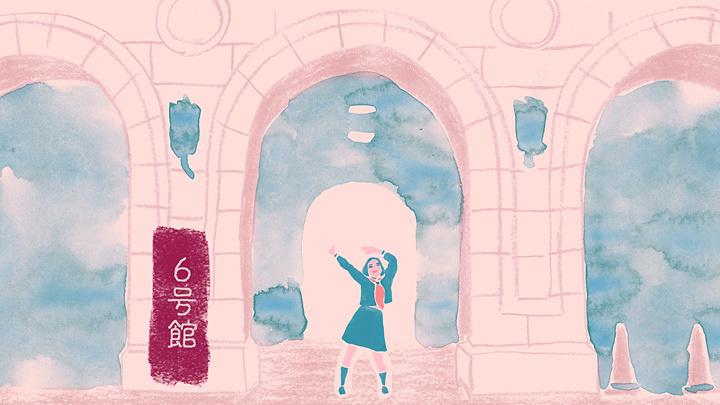 『踊る!早稲田大学1分キャンパスツアー ~WASEDAnce Animated Campus Tour~』より