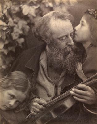 ジュリア・マーガレット・キャメロン『ミューズの囁き』1865年 ヴィクトリア・アンド・アルバート博物館蔵 ©Victoria and Albert Museum, London
