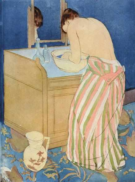 『沐浴する女』1890-91年、 ドライポイント、アクアチント、36.7×26.8cm、ブリンマー・カレッジ蔵 Courtesy of Bryn Mawr College