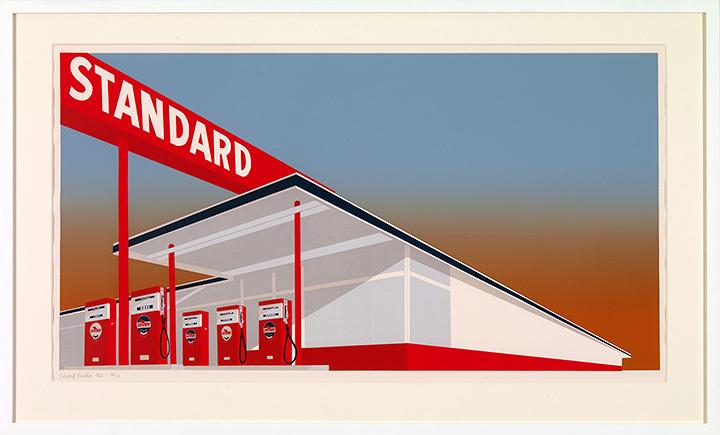 エド・ルーシェイ『スタンダードのスタンド』1966年 ©Ed Ruscha. Courtesy Gagosian Gallery UBS Art Collection