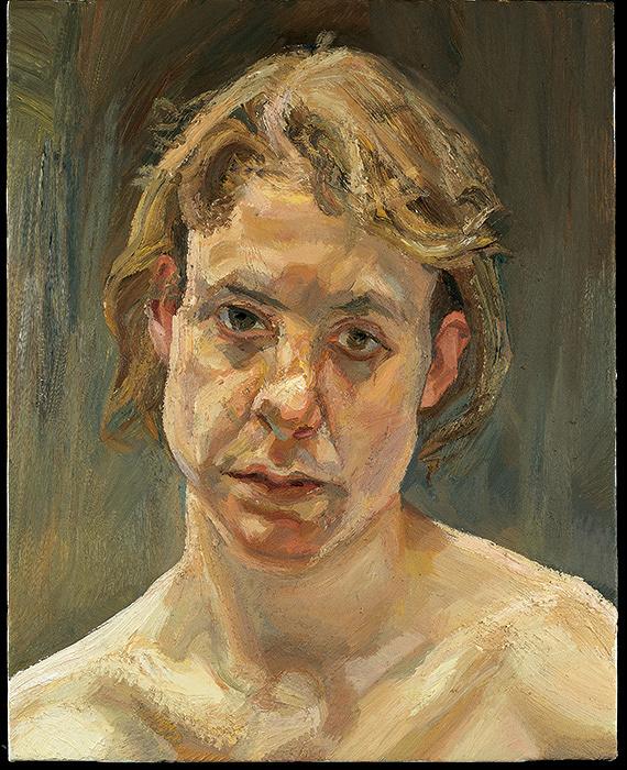 ルシアン・フロイド『裸の少女の頭部』1999年 油彩、カンヴァス ©Lucian Freud Archive/Bridgeman Images UBS Art Collection