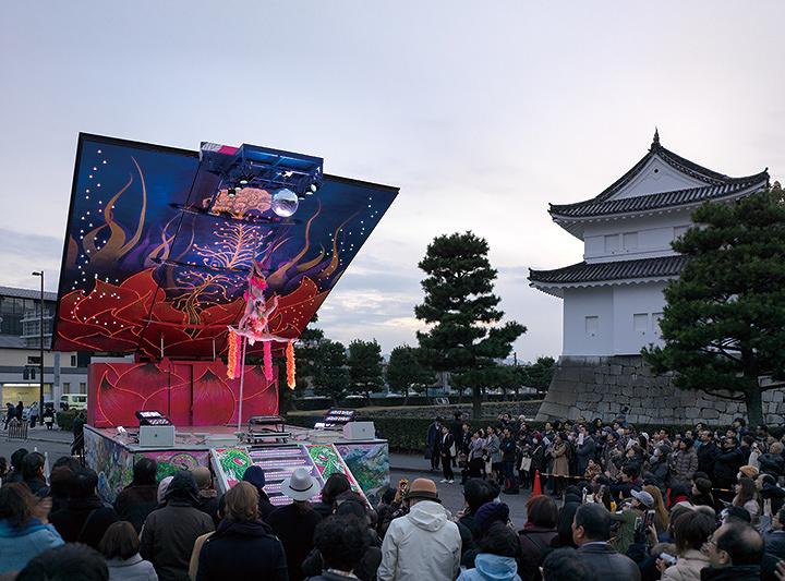 『PARASOPHIA: 京都国際現代芸術祭2015』における二条城でのイベント風景 2015年3月6日 撮影:表恒匡