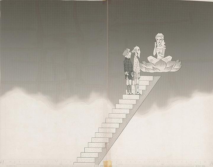 しりあがり寿『弥次喜多inDEEP』原画 『月刊コミックビーム』2000年1月号掲載