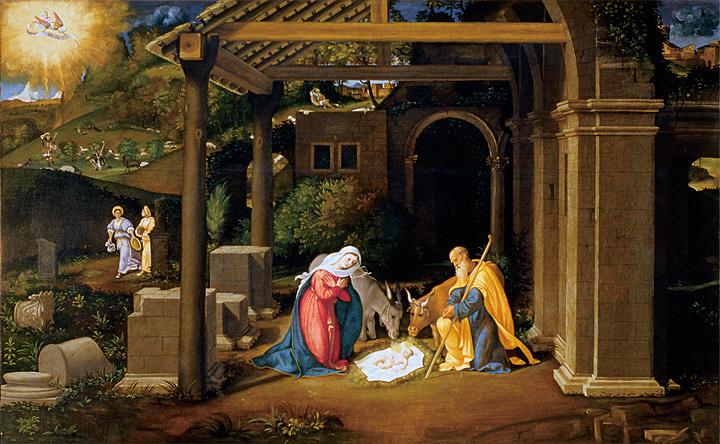 アンドレア・プレヴィターリ『キリスト降誕』 油彩、カンヴァス アカデミア美術館