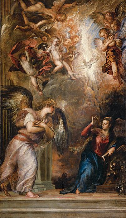 ティツィアーノ・ヴェチェッリオ『受胎告知』 油彩、カンヴァス サン・サルヴァドール聖堂