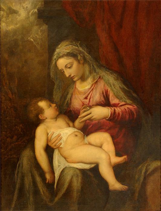ティツィアーノ・ヴェチェッリオ『アルベルティ―ニの聖母』 油彩、カンヴァス アカデミア美術館