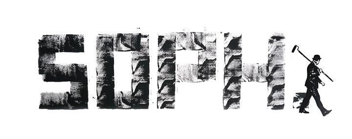 今回の個展を記念しニック・ウォーカーが描きおろしたSOPHNET.のロゴ