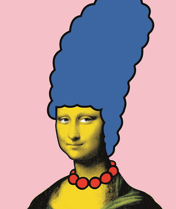 ニック・ウォーカー『Mona Simpson』Made by Banksy Gallery ©Nick Walker All rights reserved.