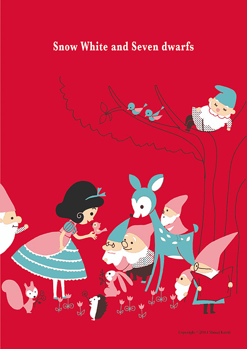 『Snow White and Seven Dwarfs』Design by ©Shinzi Katoh TM Licensed by Copyrights Asia