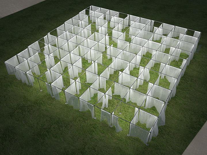 Rhizomatiks Architecture『CURTAIN WALL THEATRE』イメージビジュアル