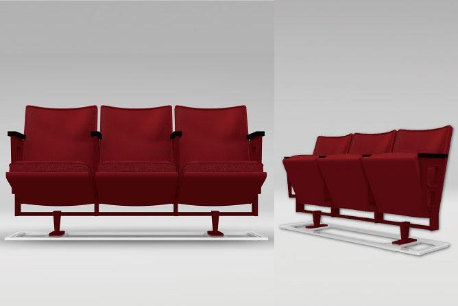 座席番号プレート付PARCO劇場メモリアルシート「PARCO THEATER Seat (for Three) byインテンショナリーズ鄭秀和」