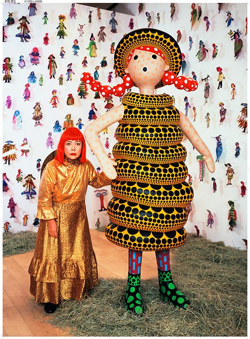 草間彌生、2004年