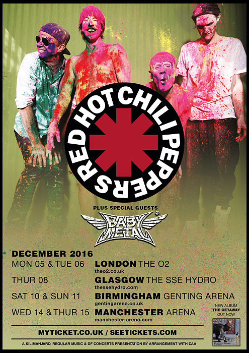 『RED HOT CHILI PEPPERS UK Tour Special Guests: BABYMETAL』ビジュアル