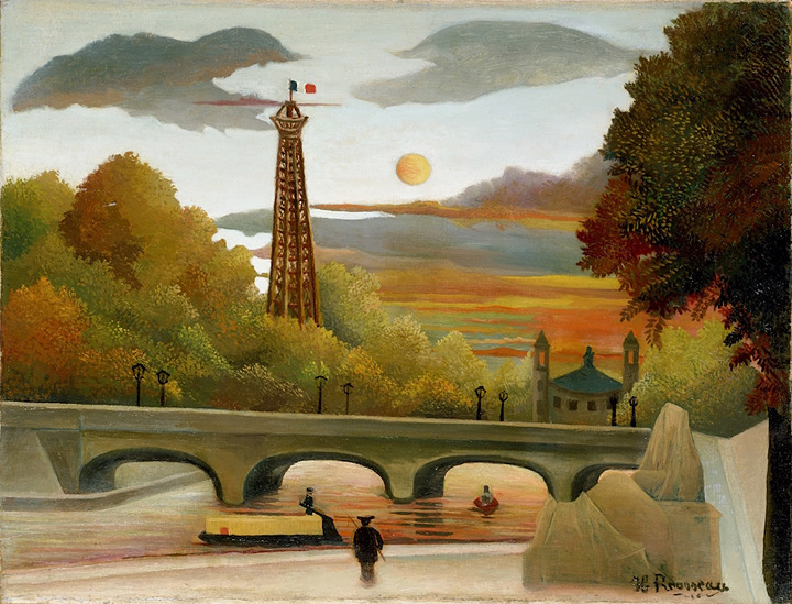 アンリ・ルソー『エッフェル塔とトロカデロ宮殿の眺望』1896-1898年 油彩/カンヴァス ポーラ美術館蔵